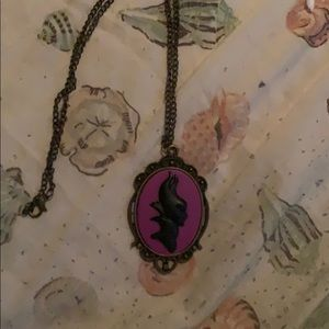 Maleficent silhouette necklace